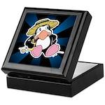 Beach Penguin Cute Cartoon Keepsake Box