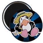 "Beach Penguin Cute Cartoon 2.25"" Magnet (100 pack)"