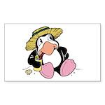 Beach Penguin Cute Cartoon Rectangle Sticker