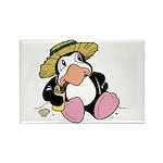 Beach Penguin Cute Cartoon Rectangle Magnet (100 p