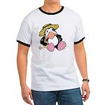 Beach Penguin Cute Cartoon Ringer T