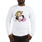 Beach Penguin Cute Cartoon Long Sleeve T-Shirt