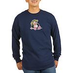 Beach Penguin Cute Cartoon Long Sleeve Dark T-Shir