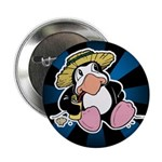 Beach Penguin Cute Cartoon Button