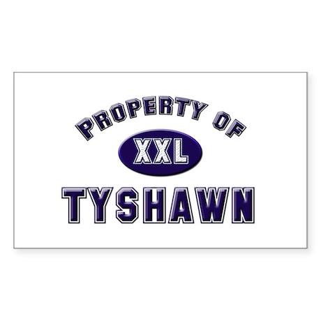 My heart belongs to tyshawn Rectangle Sticker