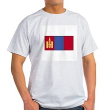 Mongolia Flag Ash Grey T-Shirt