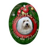 Christmas coton de tulears Ornaments