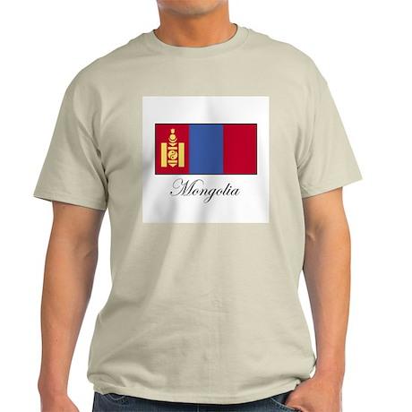 Mongolia - Flag Ash Grey T-Shirt
