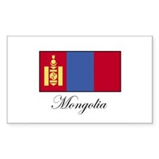 Mongolia - Flag Rectangle Decal