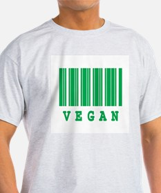 Vegan Barcode Design Ash Grey T-Shirt