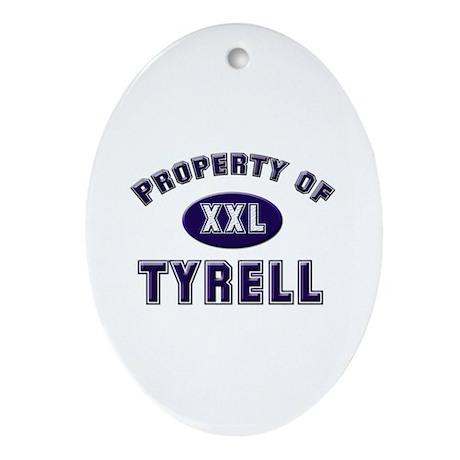 My heart belongs to tyrell Oval Ornament