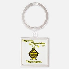 3-killer bees Square Keychain