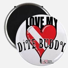2-Love-My-Dive-Buddy Magnet