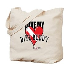 2-Love-My-Dive-Buddy Tote Bag