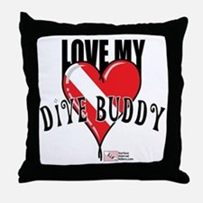 2-Love-My-Dive-Buddy Throw Pillow
