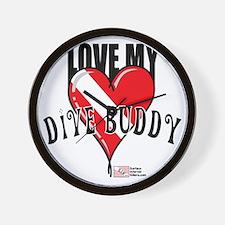 2-Love-My-Dive-Buddy Wall Clock
