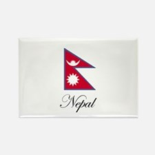 Nepal - Nepalese Flag Rectangle Magnet