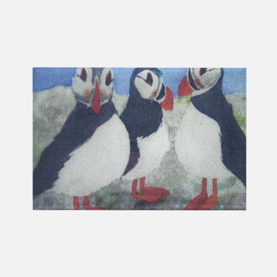 puffins Rectangle Magnet
