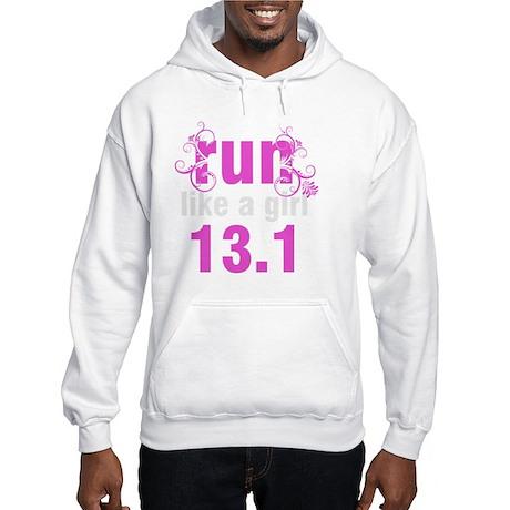 runlikeagirl_swirlpink13_2 Hooded Sweatshirt