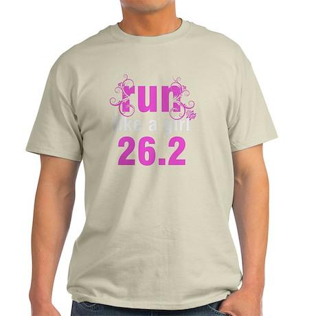 runlikeagirl_swirlpink26 Light T-Shirt