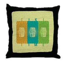 Tiki Time Throw Pillow