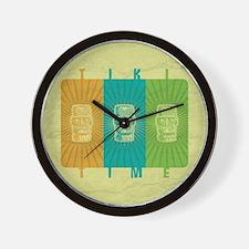 Tiki Time Wall Clock