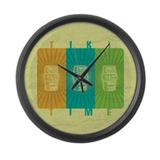 Tiki Time Large Wall Clock