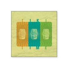 "Tiki Time Square Sticker 3"" x 3"""