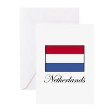 Netherlands - Dutch Flag Greeting Cards (Package o