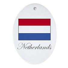 Netherlands - Dutch Flag Oval Ornament