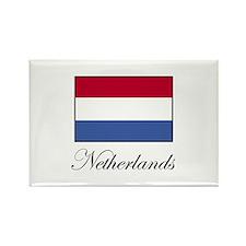 Netherlands - Dutch Flag Rectangle Magnet