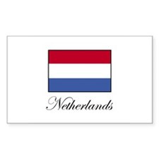 Netherlands - Dutch Flag Rectangle Decal