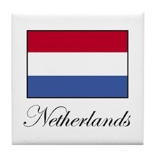 Netherlands - Dutch Flag Tile Coaster