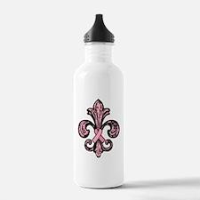 FleurPinkRibbonTR Water Bottle