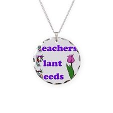 Teachers plant seeds purple Necklace