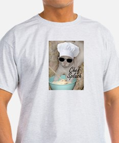 Chef Splash Ash Grey T-Shirt