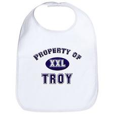 My heart belongs to troy Bib