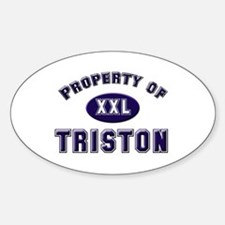 My heart belongs to triston Oval Decal