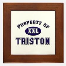 My heart belongs to triston Framed Tile