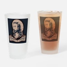 jesus-mullet-OV Drinking Glass