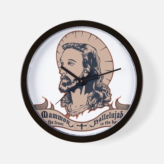 jesus-mullet-T Wall Clock