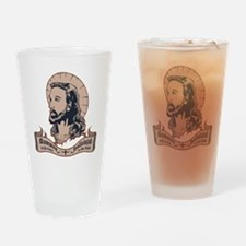 jesus-mullet-T Drinking Glass