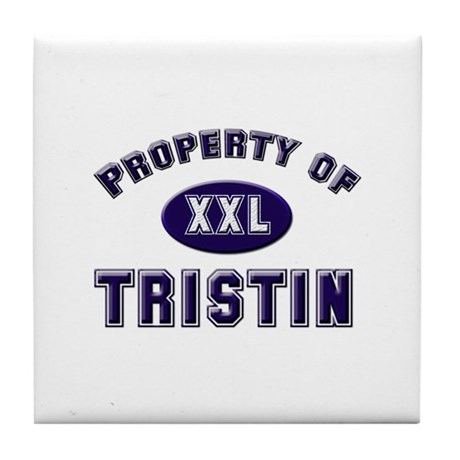 My heart belongs to tristin Tile Coaster