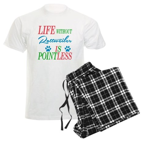 Life without Rottweiler is po Men's Light Pajamas
