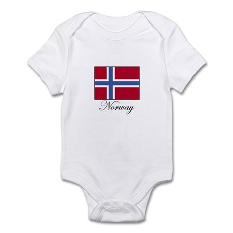 Norway - Norwegian Flag Infant Bodysuit