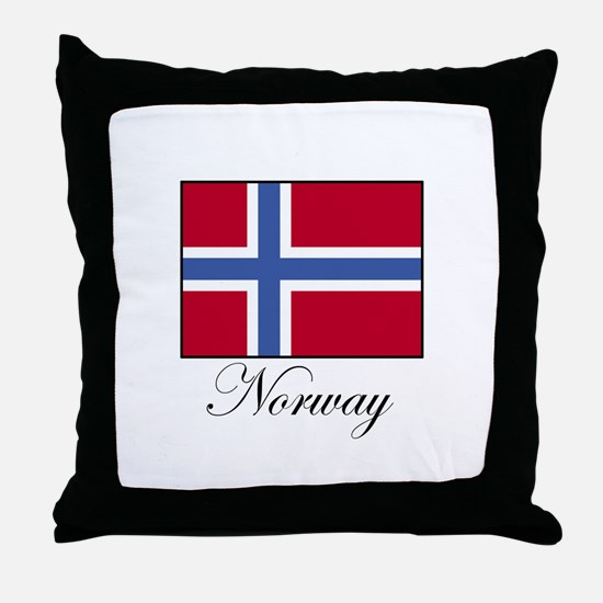 Norway - Norwegian Flag Throw Pillow