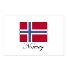 Norway - Norwegian Flag Postcards (Package of 8)