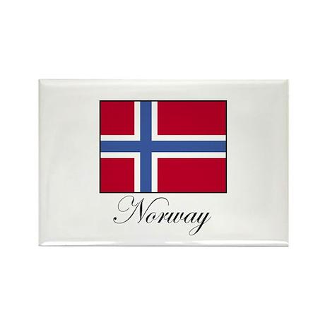 Norway - Norwegian Flag Rectangle Magnet