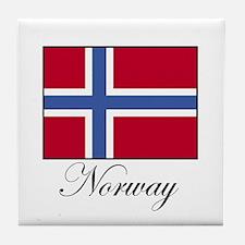 Norway - Norwegian Flag Tile Coaster