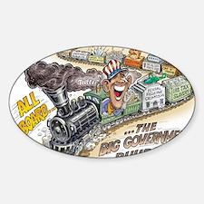 big_government_ Sticker (Oval)